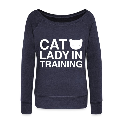 Cat Lady in Training - Women's Wideneck Sweatshirt