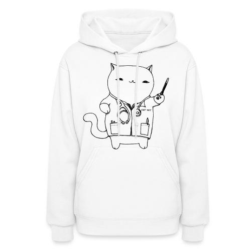 Cat Vet Women's Fleece Hoodie (Black Design) - Women's Hoodie