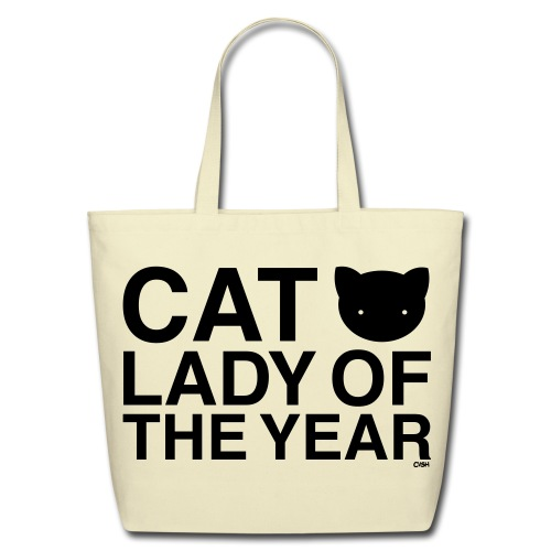 Cat Lady of the Year - Eco-Friendly Cotton Tote
