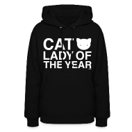 Hoodies ~ Women's Hoodie ~ Cat Lady of the Year