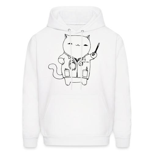 Cat Vet Men's Fleece Hoodie (Black Design) - Men's Hoodie