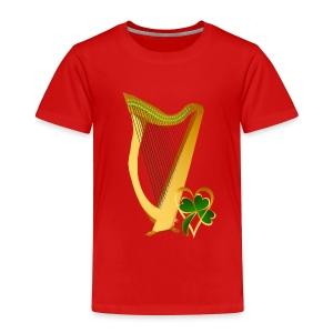 Celtic Irish gold Harp - Toddler Premium T-Shirt