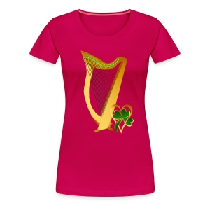 Celtic Irish gold Harp - Women's Premium T-Shirt