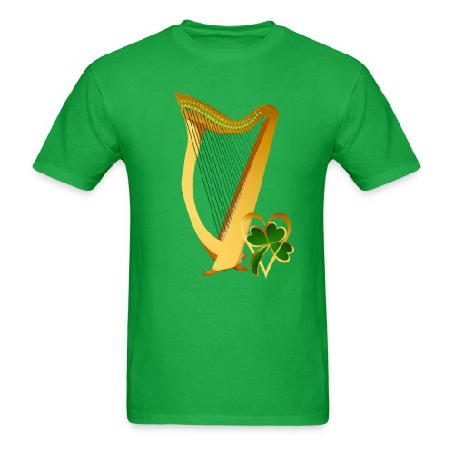 Celtic Irish gold Harp - Men's T-Shirt