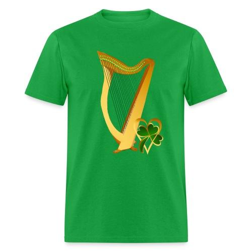 Celtic Irish gold Harp - Men's T-Shirt
