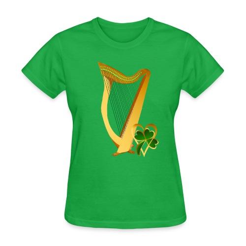 Celtic Irish gold Harp - Women's T-Shirt