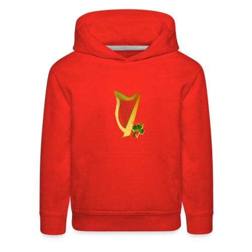 Celtic Irish gold Harp - Kids' Premium Hoodie