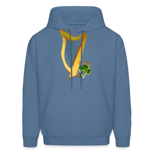 Celtic Irish gold Harp - Men's Hoodie