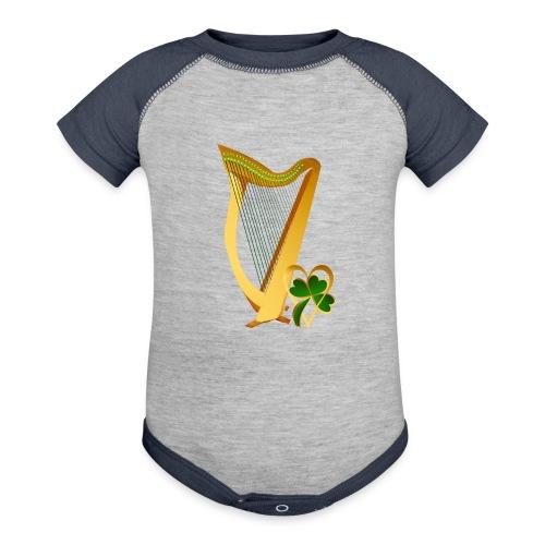 Celtic Irish gold Harp - Contrast Baby Bodysuit