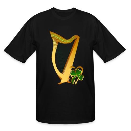 Celtic Irish gold Harp - Men's Tall T-Shirt