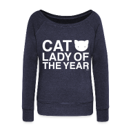Long Sleeve Shirts ~ Women's Wideneck Sweatshirt ~ Cat Lady of the Year