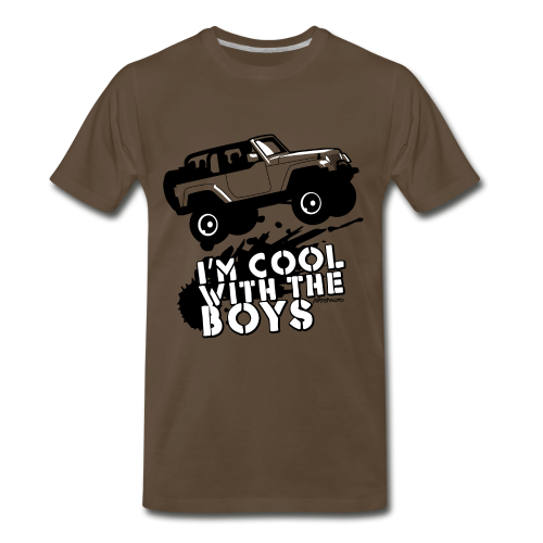 Offroad Girl - I'm Cool With The Boys! - Men's Premium T-Shirt