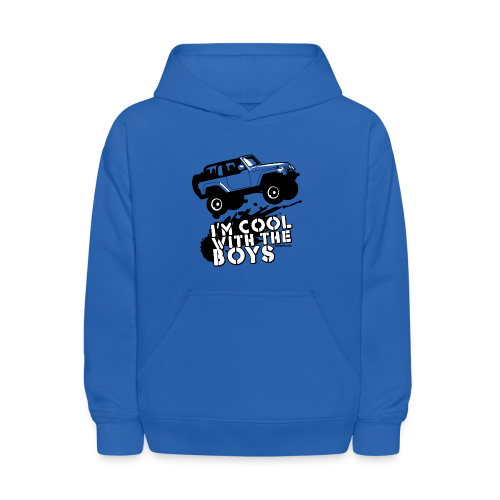 Offroad Girl - I'm Cool With The Boys! - Kids' Hoodie