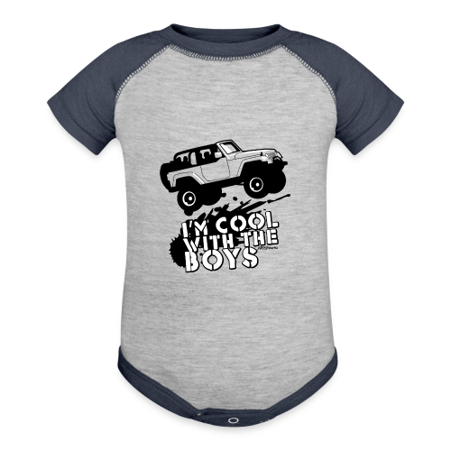 Offroad Girl - I'm Cool With The Boys! - Contrast Baby Bodysuit