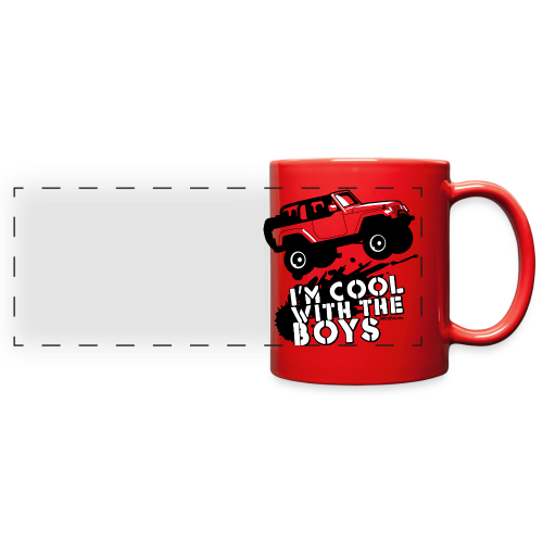 Offroad Girl - I'm Cool With The Boys! - Full Color Panoramic Mug