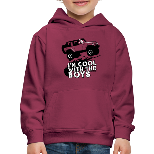 Offroad Girl - I'm Cool With The Boys! - Kids' Premium Hoodie