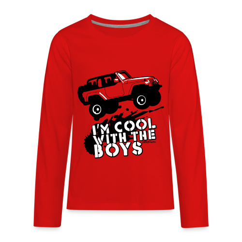 Offroad Girl - I'm Cool With The Boys! - Kids' Premium Long Sleeve T-Shirt