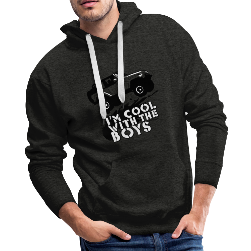 Offroad Girl - I'm Cool With The Boys! - Men's Premium Hoodie