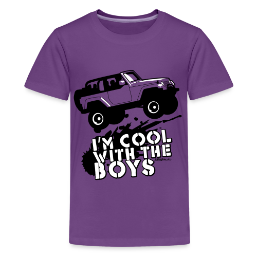 Offroad Girl - I'm Cool With The Boys! - Kids' Premium T-Shirt