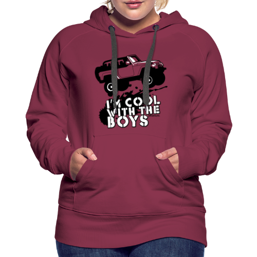 Offroad Girl - I'm Cool With The Boys! - Women's Premium Hoodie