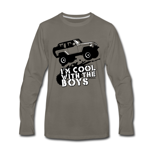 Offroad Girl - I'm Cool With The Boys! - Men's Premium Long Sleeve T-Shirt