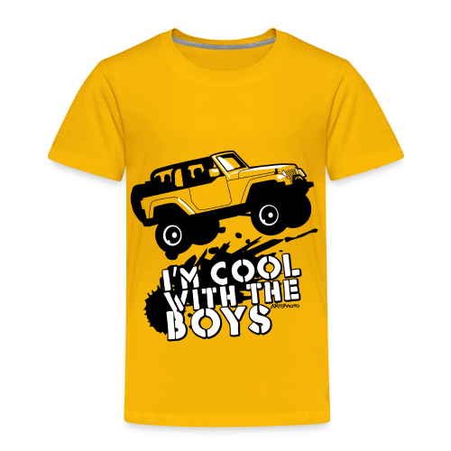 Offroad Girl - I'm Cool With The Boys! - Toddler Premium T-Shirt