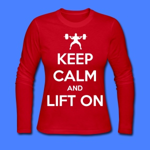 Keep Calm And Lift On Long Sleeve Shirts - Women's Long Sleeve Jersey T-Shirt