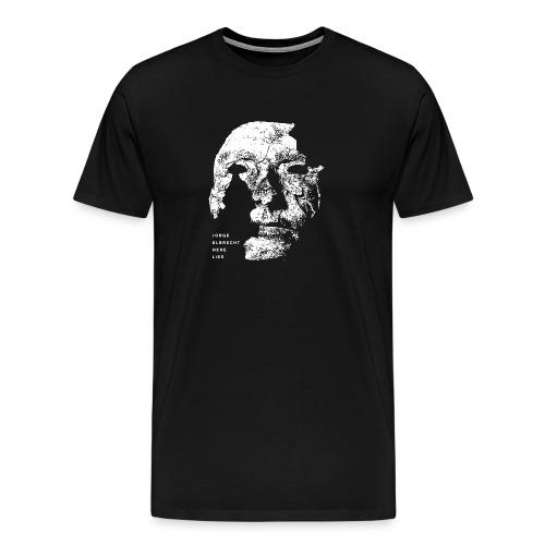 Premium Jorge Elbrecht 'Here Lies T-shirt - Men's Premium T-Shirt