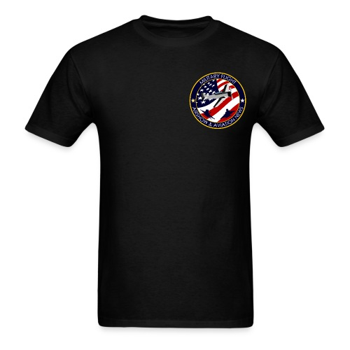 Military Flight Men's T-Shirt (Chest Emblem) - Men's T-Shirt