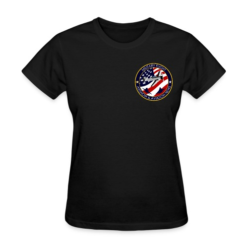 Military Flight Women's T-Shirt (Chest Emblem) - Women's T-Shirt
