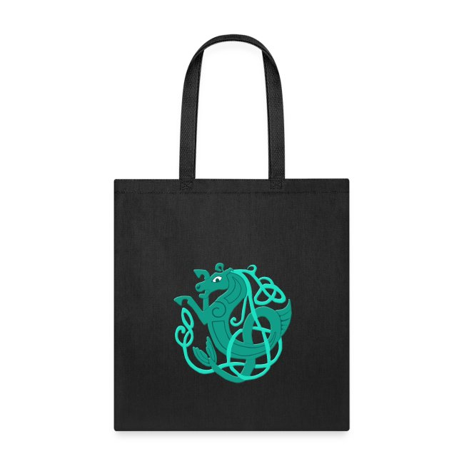 Atteestude Gifts Green Celtic Seahorse Tote Bag Tote Bag