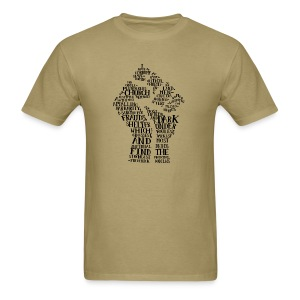Raised Fist quote-cloud by Tai's Tees - Men's T-Shirt