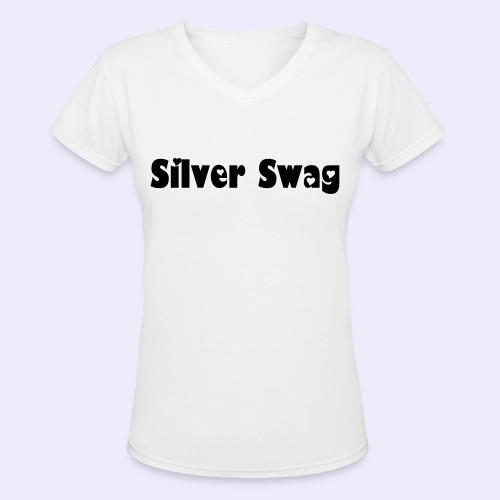 Silver Swag V-Neck T-shirt - Women's V-Neck T-Shirt