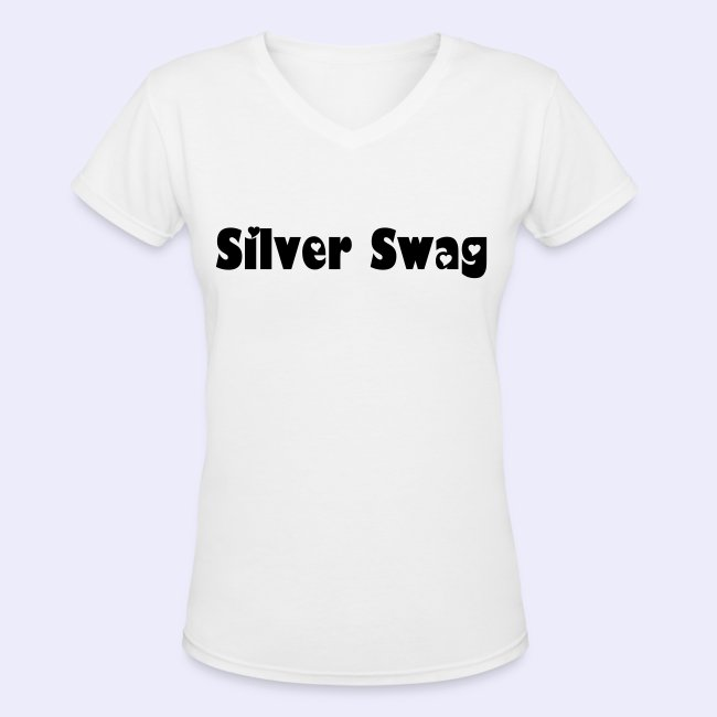 e4566d4d2 Gray Hair Tees Tanks and Tops | Silver Swag V-Neck T-shirt - Womens ...