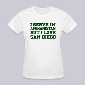 Serve Afghanistan Love San Diego - Women's T-Shirt