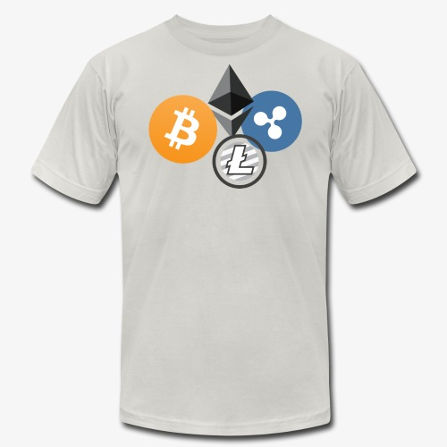 Ether, Bitcoin, Litecoin, Dash - Men's Fine Jersey T-Shirt