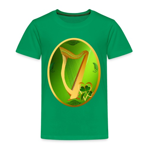 Irish Celtic Harp Oval - Toddler Premium T-Shirt