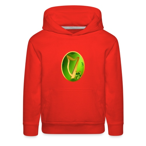 Irish Celtic Harp Oval - Kids' Premium Hoodie