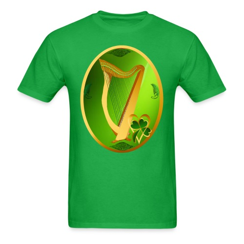 Irish Celtic Harp Oval - Men's T-Shirt