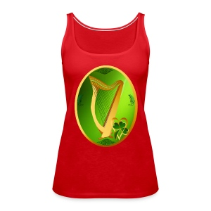 Irish Celtic Harp Oval - Women's Premium Tank Top