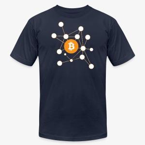 Bitcoin Network - Men's Fine Jersey T-Shirt