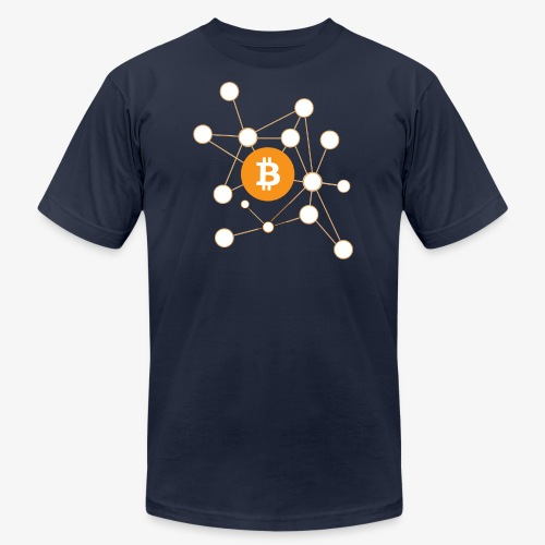Bitcoin Network - Men's Fine Jersey T-Shirt