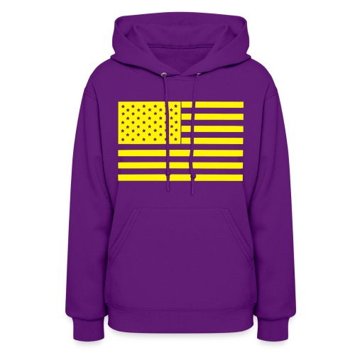 Women's Hoodie - usa,themadness,purple and yellow,nba,lakers,hoodie,dope,designs,american flag,america