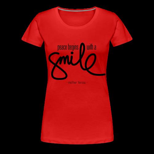 Women's Smile T-Shirt - Women's Premium T-Shirt