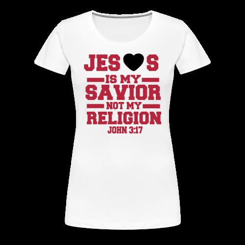 Women's John 3:17 T-Shirt - Women's Premium T-Shirt