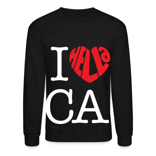 Love California Crewneck Sweatshirt  - Crewneck Sweatshirt