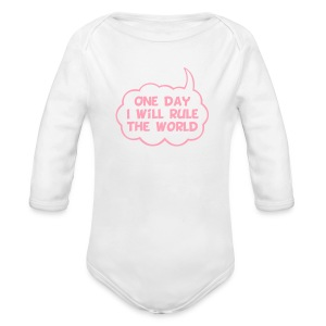 One Day I Will Rule The World - Long Sleeve Baby Bodysuit