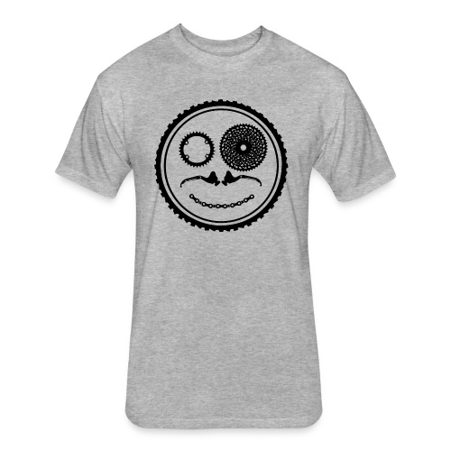 Fitted Black Circle Logo T - Fitted Cotton/Poly T-Shirt by Next Level