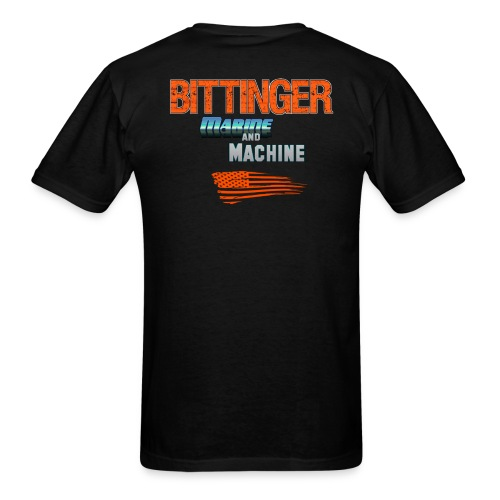 Men's T-Shirt - Bittinger Marine and Machine Male T Shirt Front and Back