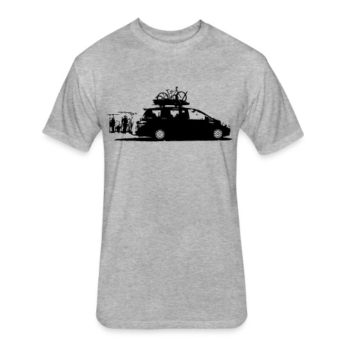 Fitted Dad Van Tee - Fitted Cotton/Poly T-Shirt by Next Level